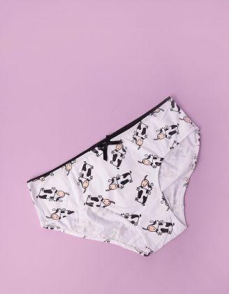Трусики жіночі з принтом корівки | 248433-21-02 - A-SHOP