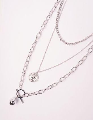 Підвіска на шию з кулоном та металевою кулькою | 238915-05-XX - A-SHOP