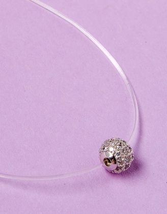 Підвіска з волосіні з кулоном у вигляді кульки з камінцями | 229098-05-XX - A-SHOP