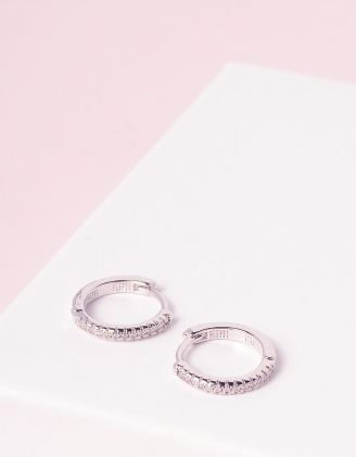 Сережки кільця зі стразами | 245300-06-XX - A-SHOP