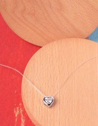 Підвіска з кулоном у вигляді серця | 227018-06-XX - A-SHOP