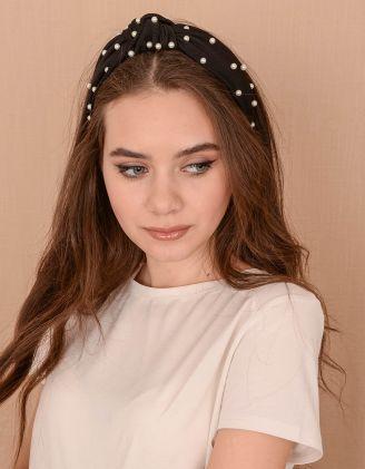 Обідок для волосся з перлинами | 239415-02-XX - A-SHOP