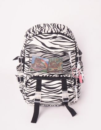 Рюкзак для міста з принтом зебри | 247315-02-XX - A-SHOP