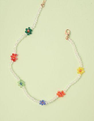 Підвіска чокер із намистин з квітами | 246987-21-XX - A-SHOP