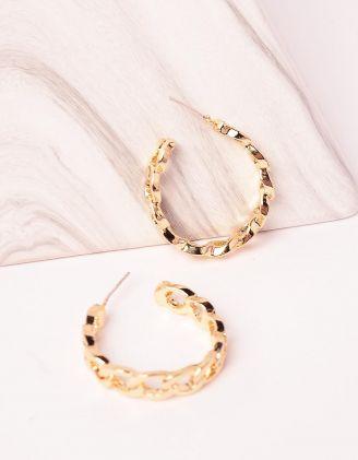 Сережки кільця у вигляді ланцюжків | 246536-04-XX - A-SHOP