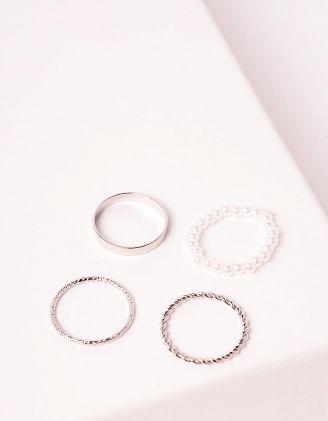 Кільця у наборі із перлин плетені | 248710-06-XX - A-SHOP