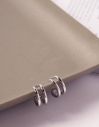 Сережки кільця маленькі з гвіздочками | 240167-05-XX - A-SHOP