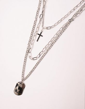 ПІдвіска із ланцюжків з хрестиком | 238851-05-XX - A-SHOP