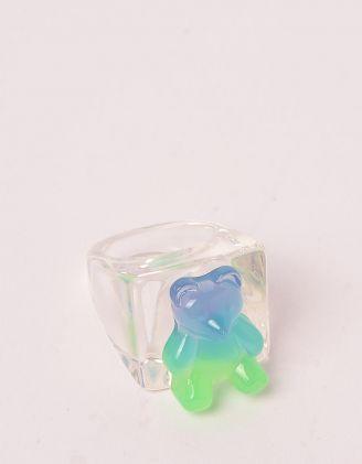 Кільце на руку прозоре широке з ведмедиком | 248703-37-37 - A-SHOP