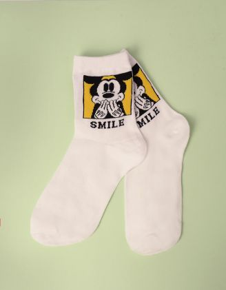 Шкарпетки з принтом Міккі Мауса | 246885-19-XX - A-SHOP