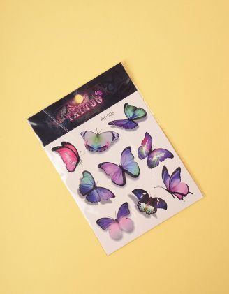 Татуювання тимчасове з малюнком метеликів | 243333-21-XX - A-SHOP