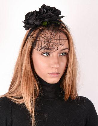 Обідок для волосся з вуаллю та трояндами | 243308-02-XX - A-SHOP