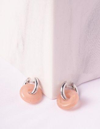 Сережки маленькі з кільцями | 246904-44-XX - A-SHOP