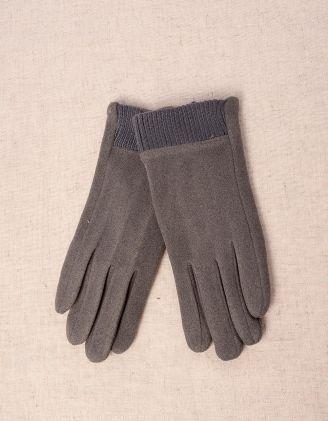 Рукавички жіночі з плетінням на зап'ясті | 241755-28-09 - A-SHOP