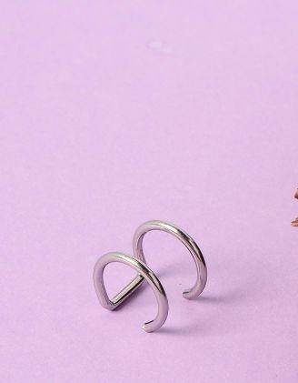 Сережка обманка у вигляді двох кілець | 232050-05-XX - A-SHOP