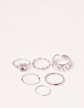 Кільця у наборі плетені у вигляді ланцюжка | 249416-05-XX - A-SHOP