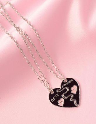 Підвіска на шию best friends з кулоном у вигляді серця   249819-02-XX - A-SHOP