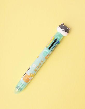 Ручка багатокольорова з песиком | 247054-37-XX - A-SHOP