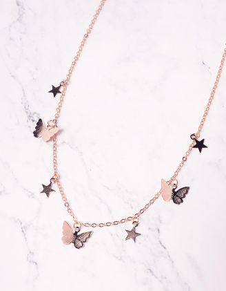 Підвіска на шию з метеликами та зірочками | 242672-04-XX - A-SHOP