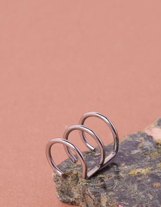 Сережка обманка з трьох кілець | 234488-05-XX - A-SHOP