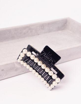Шпилька для волосся крабік з перлинами | 244447-02-XX - A-SHOP