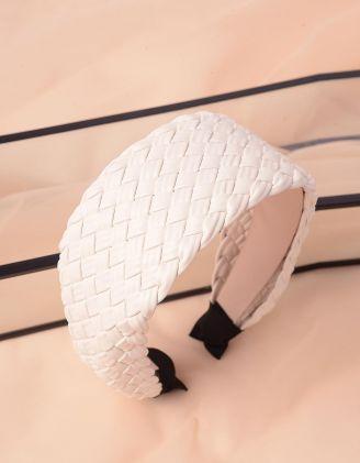 Обідок для волосся широкий плетений | 243772-01-XX - A-SHOP
