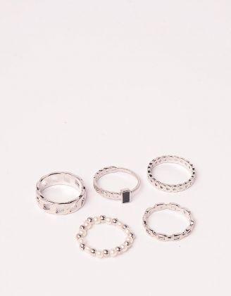 Кільця у наборі із перлин у вигляді ланцюжка | 249419-06-XX - A-SHOP