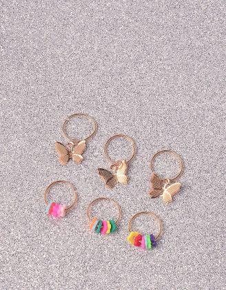 Кільця на волосся з метеликами | 244280-21-XX - A-SHOP