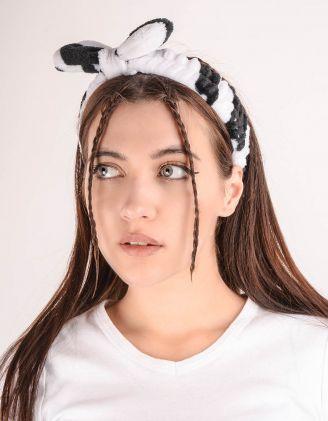Пов'язка на голову з принтом корівки | 245733-01-XX - A-SHOP