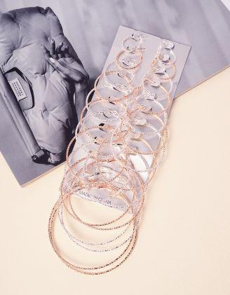 Сережки кільця у наборі | 237779-21-XX - A-SHOP