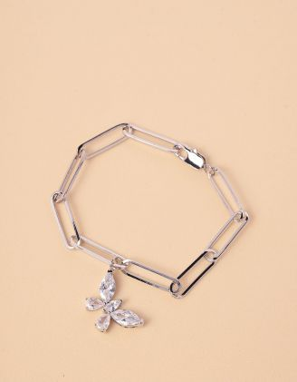 Браслет на руку із ланцюга з кулоном у вигляді метелика | 245626-06-XX - A-SHOP