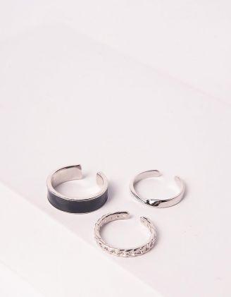 Кільця у наборі 3шт у вигляді ланцюжка | 247001-07-XX - A-SHOP