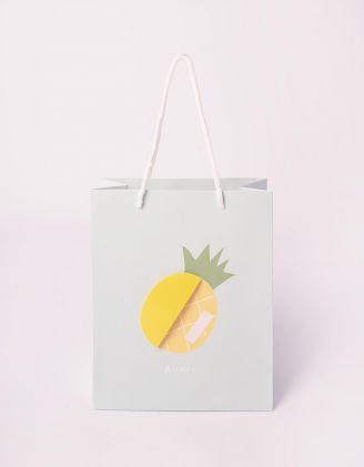 Пакет подарунковий з принтом фруктів | 240700-18-XX - A-SHOP