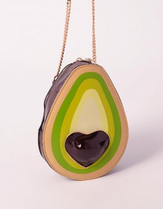 Сумка на ланцюжку у вигляді авокадо з принтом пітона | 239305-20-XX - A-SHOP