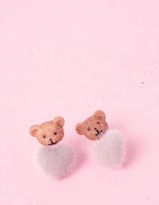 Сережки пусети з ведмедиками | 236610-11-XX - A-SHOP