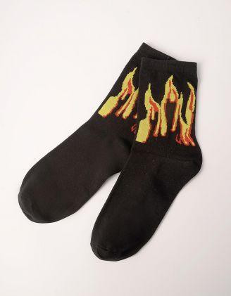 Шкарпетки з принтом вогню | 240508-02-XX - A-SHOP