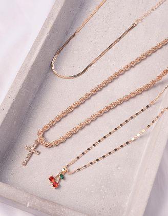 Підвіска у наборі з кулонами у вигляді вишні та хреста | 245143-08-XX - A-SHOP