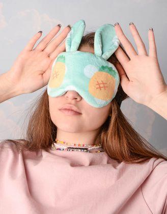 Пов'язка для сну з вушками та принтом фрукта | 244702-37-XX - A-SHOP