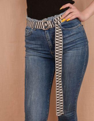 Ремінь плетений | 240584-01-XX - A-SHOP