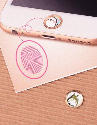 Наліпка на телефон на кнопку  HOME з принтом | 239887-11-XX - A-SHOP