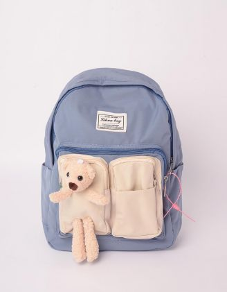 Рюкзак молодіжний з ведмедиком на кишені | 243058-31-XX - A-SHOP