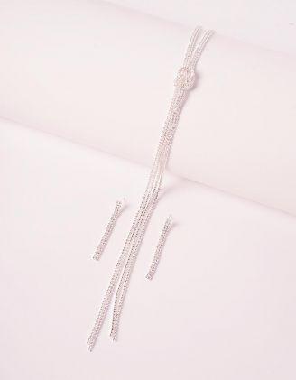 Комплект із підвіски та сережок з камінцями | 240191-06-XX - A-SHOP