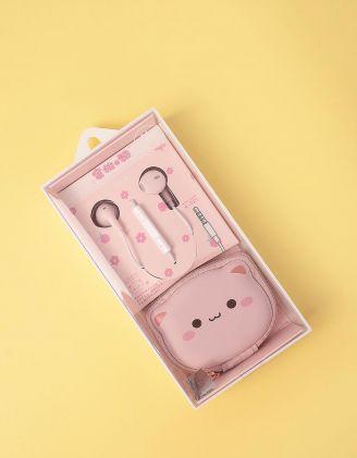 Навушники з чохлом у вигляді киці | 248709-14-XX - A-SHOP