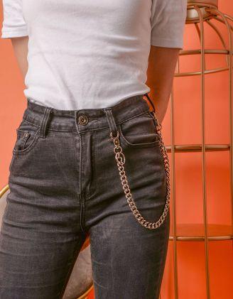Ланцюг підвіска на брюки та джинси  з карабінами | 237057-05-XX - A-SHOP