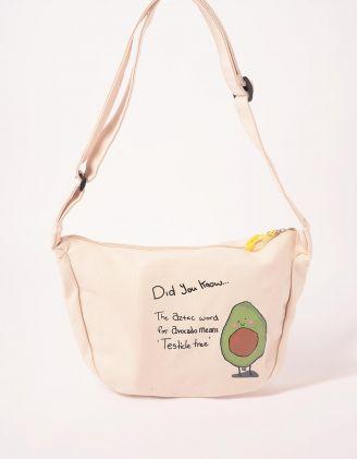 Сумка на плече з принтом авокадо | 243189-01-XX - A-SHOP