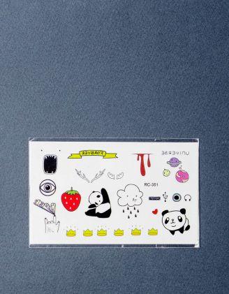 Тату на тіло тимчасове із зображенням панди | 219118-21-XX - A-SHOP