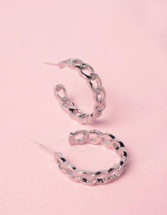 Сережки кільця у вигляді ланцюжків | 246536-05-XX - A-SHOP