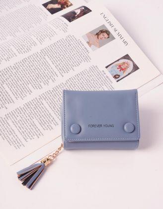 Гаманець портмоне з китицею та гудзиками | 240257-18-XX - A-SHOP