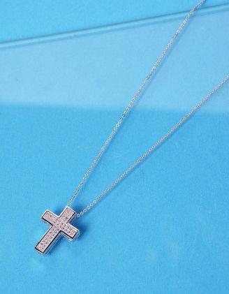 Підвіска з хрестиком декорованим камінцями | 237128-06-XX - A-SHOP
