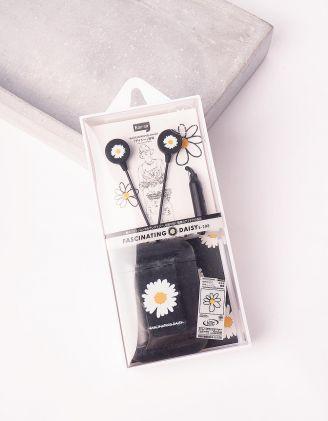Навушники з принтом ромашки | 243944-02-XX - A-SHOP